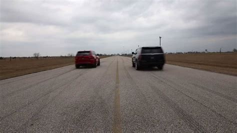 jeep escalade hennessey escalade vs jeep trackhawk photo