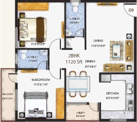 serenity floor plan 1120 sq ft 2 bhk 2t apartment for sale in baldota group serenity hosa road bangalore