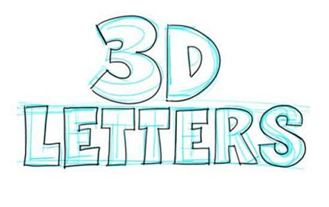 lettering sketch tutorial how to draw 3d letters