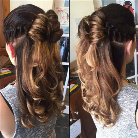 half up half down hairstyles for curly hair 55 stunning half up half down hairstyles