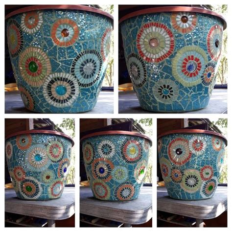 316 best mosaic pots images on mosaic bottles