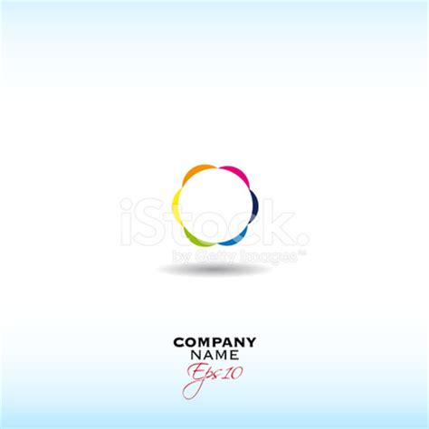 colorful circle logo colorful circle logo design stock vector freeimages