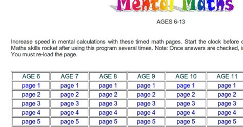 html tutorial ks3 mental arithmetic tests for adults ks3 5 years gcse