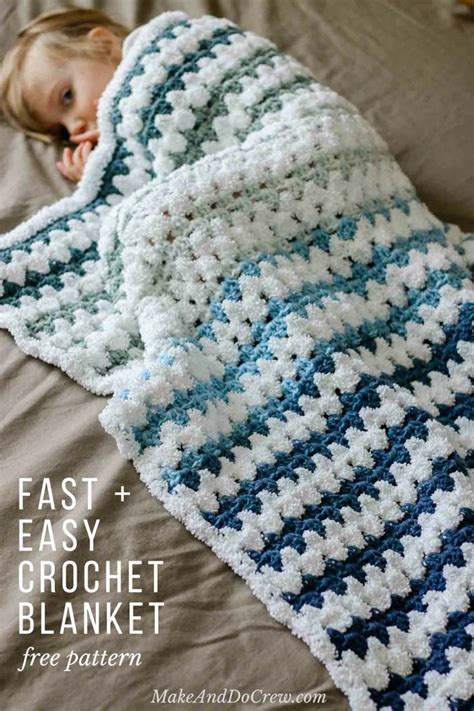 How To Crochet A Blanket by Tributary Free Beginner Crochet Baby Blanket Pattern