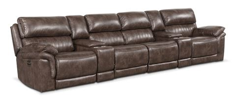 With Reclining Seats by Monterey 6 Power Reclining Sectional With 4