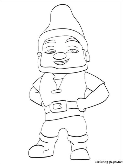 Gnomeo And Juliet Coloring Pages Gnomeo Friend Of Juliet Coloring Page Coloring Pages by Gnomeo And Juliet Coloring Pages