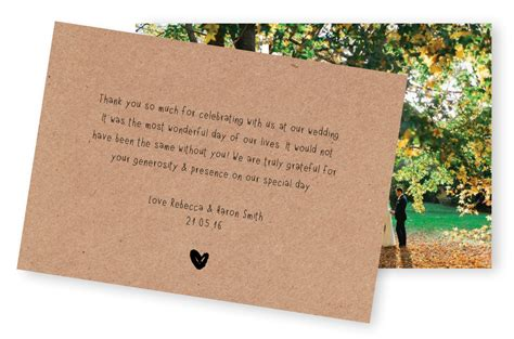 5 wording ideas for your wedding thank you cards for the of stationery