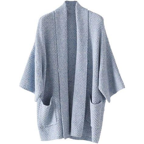 Cardigan Syari poetry chunky stitch cardigan denim 185 liked on polyvore polyvore tops