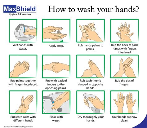 how to wash hand properly in step by step and propery protect yourself wash your maxshield hygiene and protection