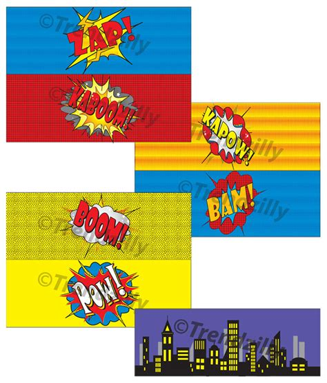 printable heroes drive superhero 4x11 can labels comic book labels party