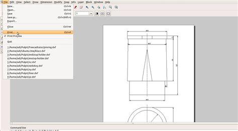 Librecad Templates best tutorial engine 8 liner blueprint freecad librecad