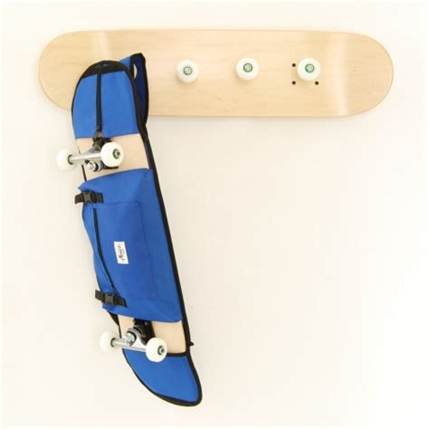 Coat And Bag Rack by How To Carry Your Skateboard When Your Ride A Bike To A