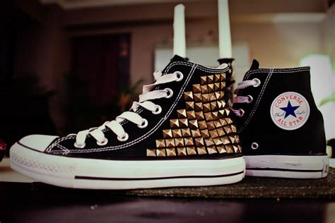diy studded shoes studded converse diy 183 how to make a pair of embellished