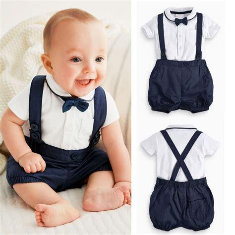 Aliexpress Buy 2016 3pcs Infant 2016 Newborn Baby Boy Bow Tie T Shirt Bib Overalls 3pcs Set Clothes In Clothing