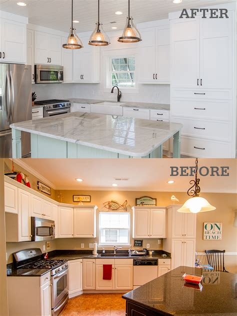 Opening Up A Kitchen Before And After Before After Photos Of A Surfside Vacation Home