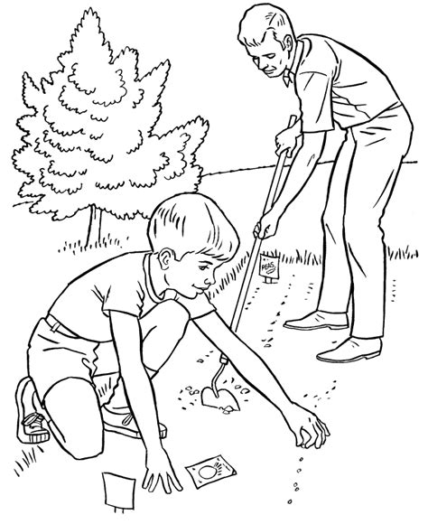 farm work  chores coloring page planting  garden