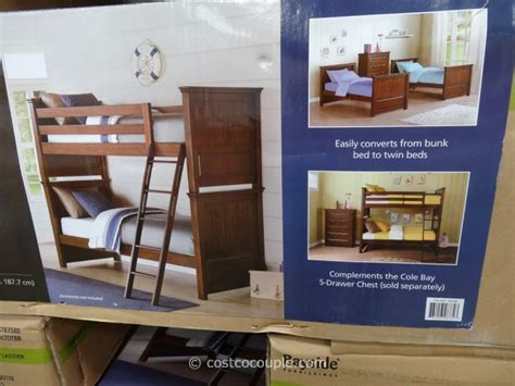 costco boat bed for sale bayside furnishings cole bay twin over twin bunkbed costco