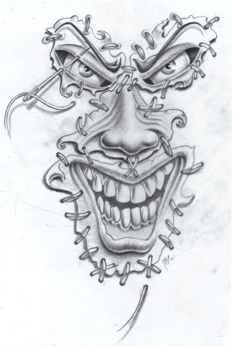 clown tattoo by unibody on deviantart joker face tat2 commission by markfellows deviantart com