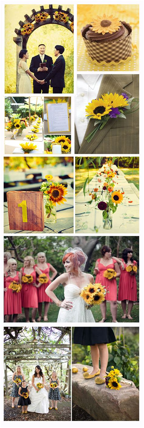 sunflower weddings vintageweddingplanner