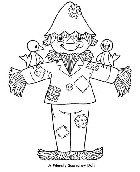 easy scarecrow coloring pages 128 best scarecrows images on pinterest coloring pages