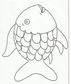 rainbow fish template squish preschool ideas