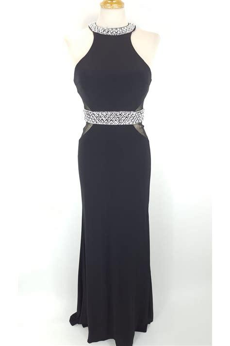La Robe Black Lash Dress Mascara - mascara por la femme halterneck jersey dress with pearl