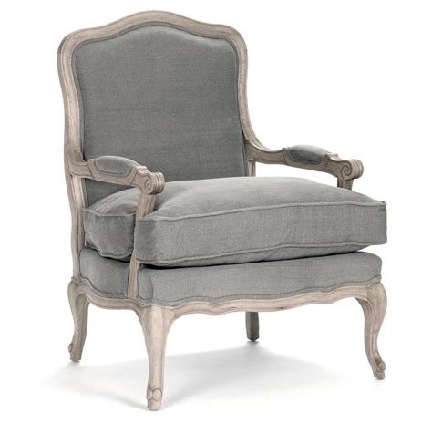 french linen armchair french country bastille dark grey linen salon armchair