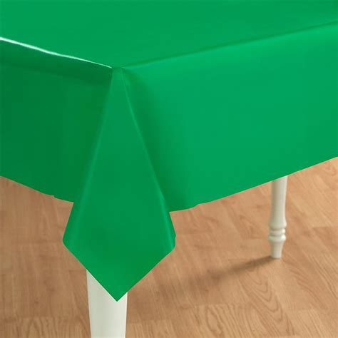 Green Table Cloth by Green Plastic Table Cover Rectangle