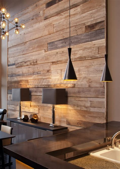 wood panel accent wall reclaimed wood let it tell a story in your home