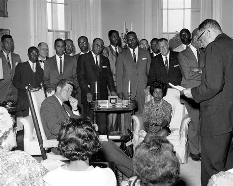 john f kennedy and civil rights movement john f kennedy meets with civil rights leaders r