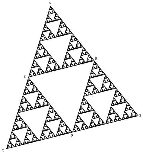 imagenes de fractales matematicas tri 225 ngulo de sierpinski wikipedia la enciclopedia libre
