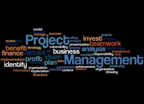 project management word cloud concept  black background stock photo colourbox