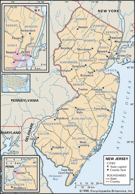 map nj state and county maps of new jersey