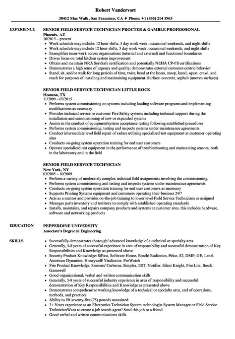 Field Technician Resume by Senior Field Service Technician Resume Sles Velvet