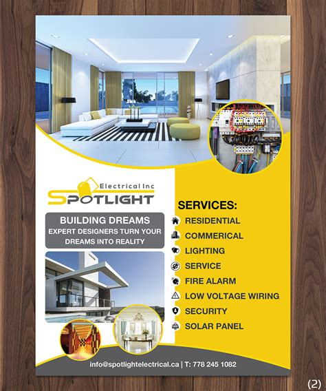 Interior Design Jobs Dc Flyer Design For Spotlight Electrical Inc By