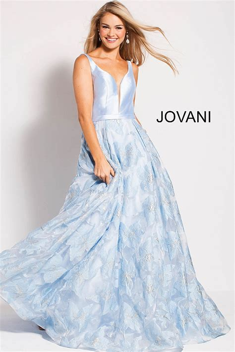 light blue floral dress light blue a line floral skirt sleeveless v back prom