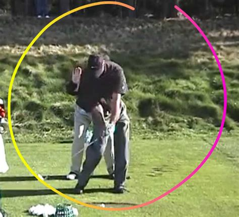 golf swing divot hit down on the golf ball and take a huge divot it s not