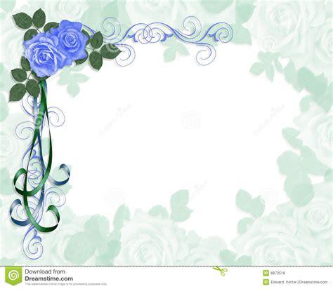 wedding invitation border designs aqua blue wedding invitation border blue roses and ribbons royalty free cartoondealer 7805921