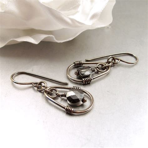 sterling silver wire for jewelry wire wrapped jewelry handmade sterling silver earrings