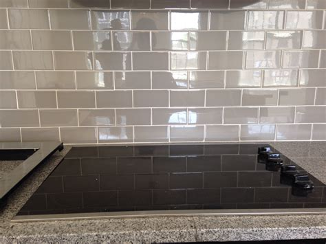 subway glass tile backsplash grey subway tile backsplash decofurnish