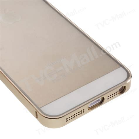 Bumper List Gold Iphone 5 torras metal bumper with pc back phone cover for iphone se