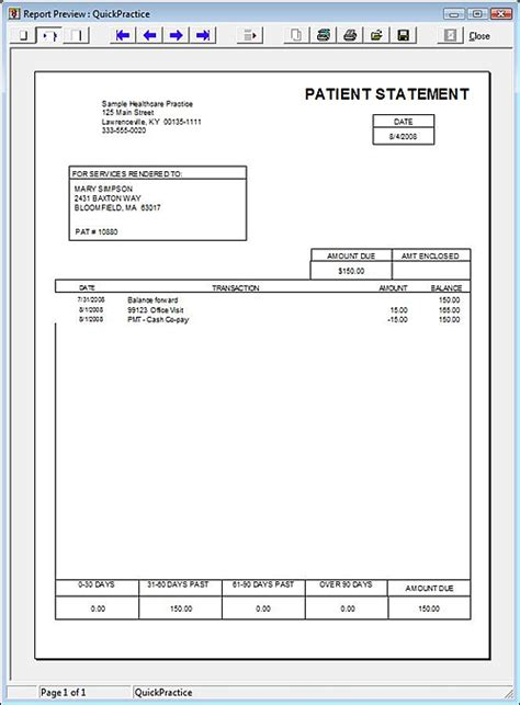 patient statement template pin billing patient statements sle receiptpng on