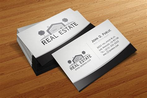 illustration real estate business cards templates free real estate business card template on behance