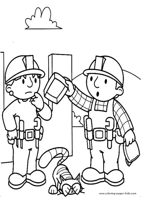 coloring page builder transmissionpress bob the builder coloring pages for kids