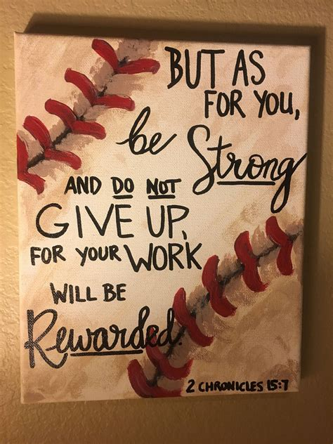 sports themed quotes baseball decor bible quote 2 chronicles 15 7 verses