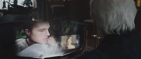 mockingjay part 1 deleted scene peeta and snow chat sparklife 187 peeta and president snow trade watery glances
