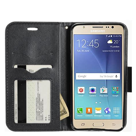 Samsung Galaxy J7 2016 J710 Casing Cover Kasing for samsung galaxy j7 2016 j710 wallet flip tpu with card holder lanyard ebay