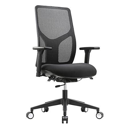 workpro chairs workpro 4000 mesh high back task chair black office depot