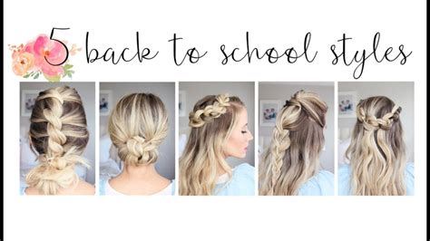 5 easy back to school hairstyles hairstyles