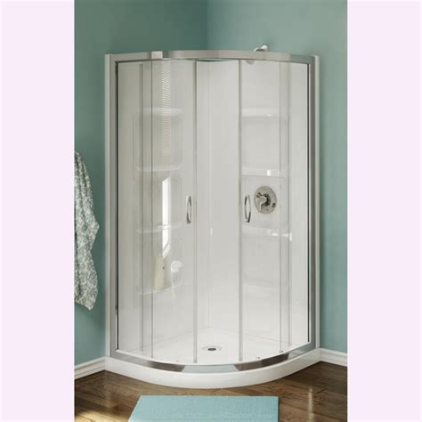 Shower Stall Systems Nevada 38 Inch Acrylic Neo Corner Shower Stall